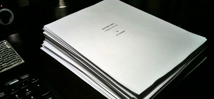 finished manuscript